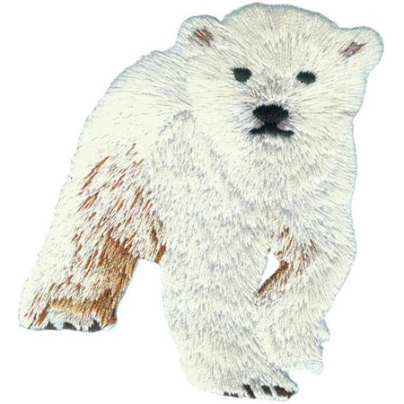 Patch - Animals - Polar Bear Cub Iron On Gifts New Licensed p-3952