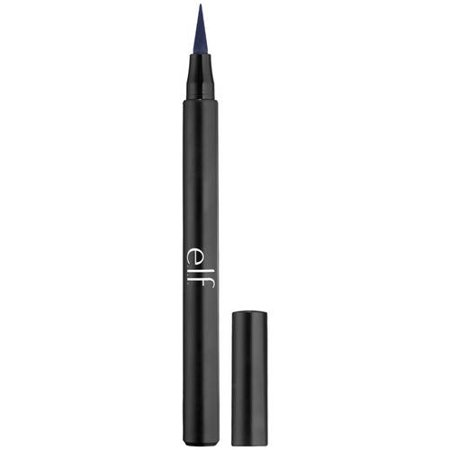 e.l.f. Intense Ink Eyeliner, Midnight, 0.56 oz (Best Eye Makeup For Small Eyes)