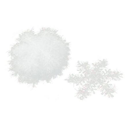 Festival Plastic Christmas Tree Hanging Decor Snowflake Ornament White 30pcs - Plastic Snowflakes Bulk