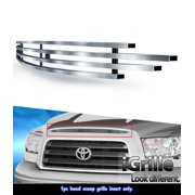 Fits 2007-2009 Toyota Tundra Top Panel Hood Scoop Stainless Billet Grille