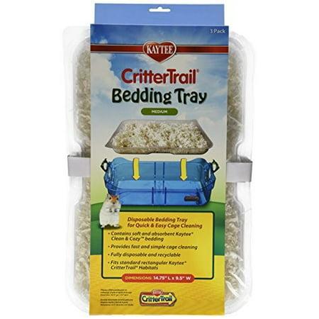 Kaytee CritterTrail Small Animal Habitat Bedding Trays, Pack of 3 - Beading Tray