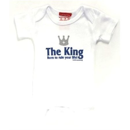 Silly Souls Newborn Baby Boy The King - Born To Rule Your Life - Bodysuit