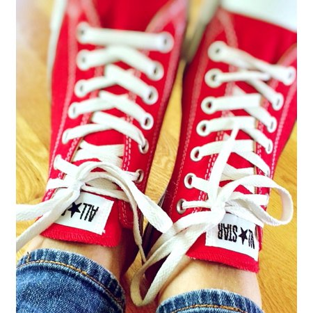 Peel-n-Stick Poster of Chucks Sneakers Retro Converse Hipster FashionPoster 24x16 Adhesive Sticker Poster (Retro Gym)