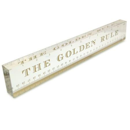 OnDisplay Acrylic Block Decorative Desktop Ruler - The Golden Rule - Decorate Desk
