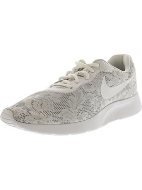 2041628330b32 Product Image Nike Women s Tanjun Eng White   - Pure Platinum Ankle-High  Mesh Fashion Sneaker 8M