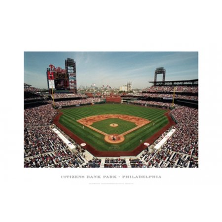 Citizens Bank Park Philadelphia Poster Print By Ira Rosen  19 X 13