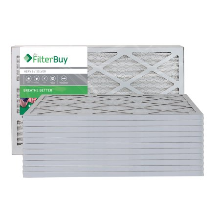 AFB Silver MERV 8 17x22x1 Pleated AC Furnace Air Filter Pack of 12 Fil