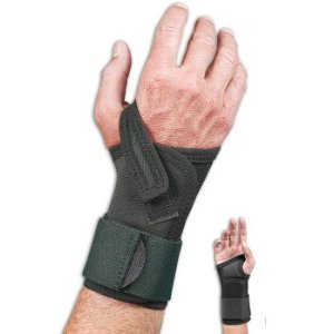 - Safe T Wrist Heavy Duty Occupational Wrist Support. Large. Right. Black, Specify right or left wrist. By FLA Orthopedics From USA