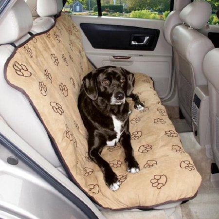 Cruising Companion Pawprint Car Seat Cover Tan