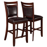 A Line Furniture Rosely Contemporary Wood Counter Height Stools (Set of 2)