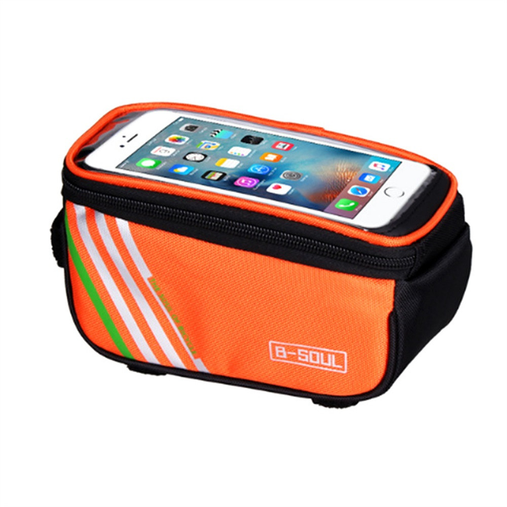 Waterproof Touch Screen Bicycle Bags Cycling Bike Front Frame Bag Tube Pouch Hight Quality