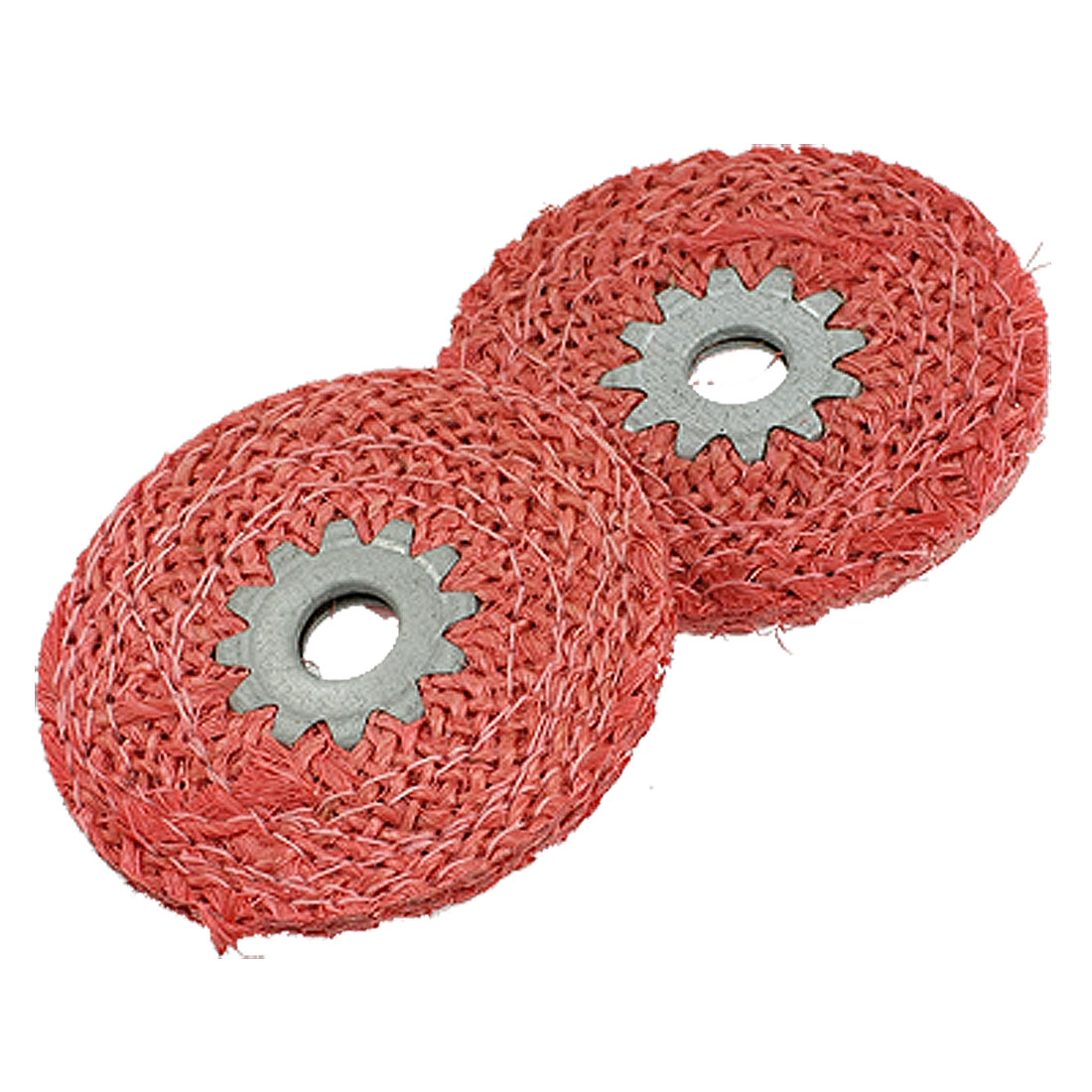Unique Bargains 2 Pcs 6mm Thick Sisal Polishing Wheels Sanding Discs for Metal by