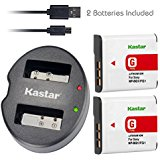 Kastar Battery (X2) & Dual USB Charger for Sony NP_BG1 NP...