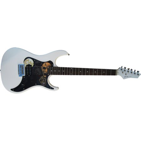 Hot Picks Electric Guitar With Changeable Pick Guard Skins White