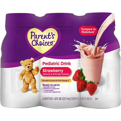 Parent's Choice - Nutritional Pediatric Drink, Strawberry, 6 count