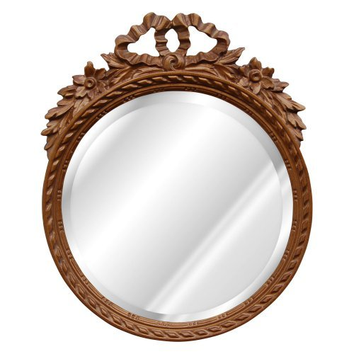 Hickory Manor House Round with Bow Bevel Mirror - 13W x 16H in.