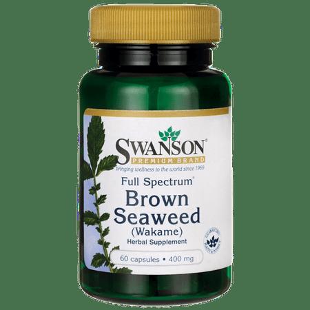 Swanson Full Spectrum Brown Seaweed (Wakame) 400 mg 60 Caps