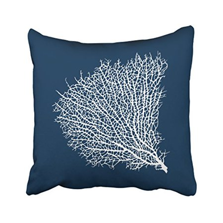 WinHome Square Throw Pillow Covers Retro Popular Nautical Theme Coral Simple Pattern Pillowcases Polyester 18 X 18 Inch With Hidden Zipper Home Sofa Cushion Decorative Pillowcase](Popular Themes)