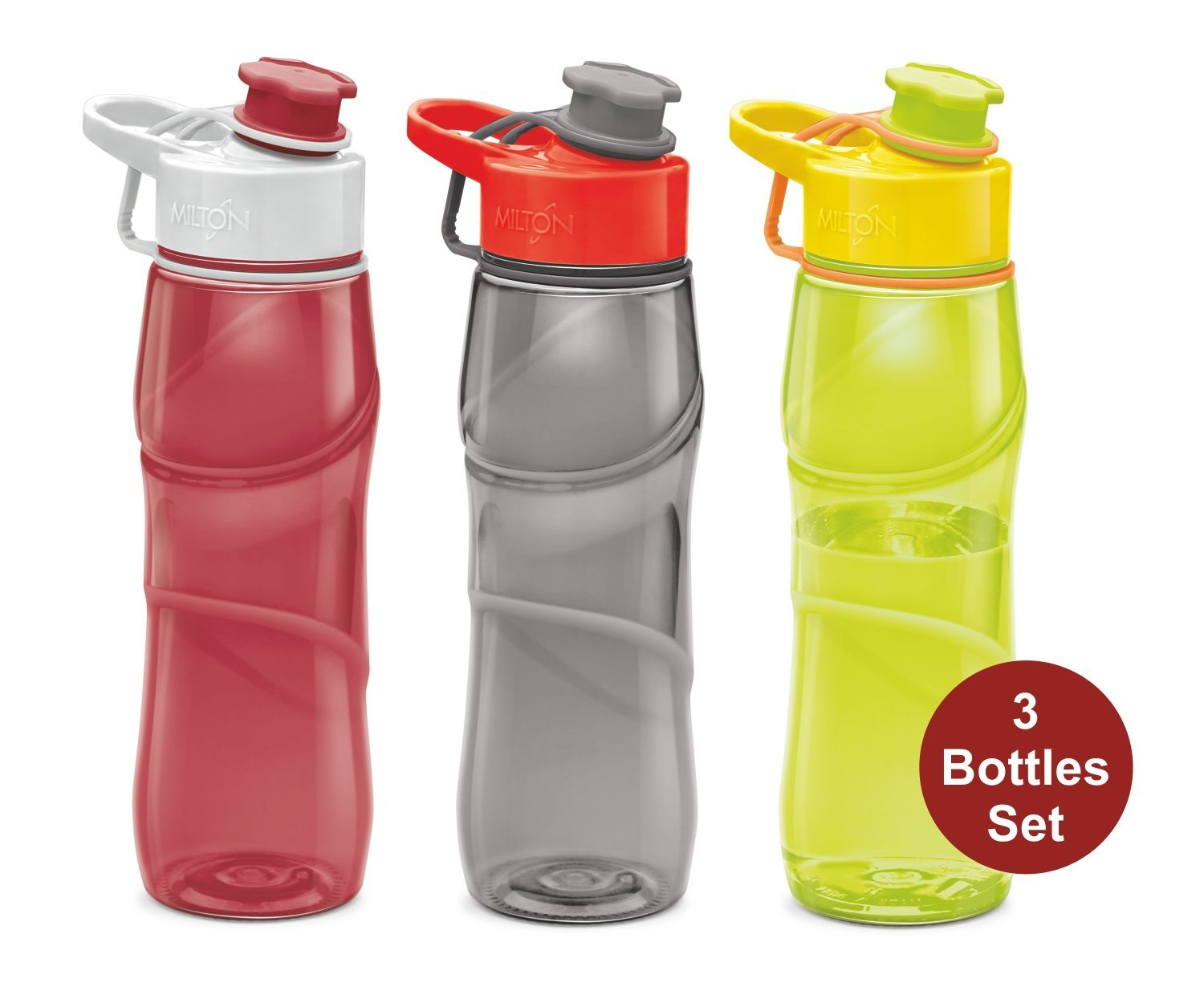 Sports Water Bottle, Milton Homery Adults Kids 25oz 3Pk BPA-Free Dishwasher-Safe Tritan Plastic Leakproof Large Wide... by