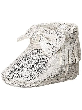 Baby Deer Fringe Metallic Booties
