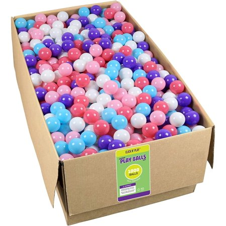 Click N' Play Phthalate Free & BPA Free Crush Proof Ball Pit Balls, Bulk 1000 pack, Little Princess Edition](Ballpit Balls)