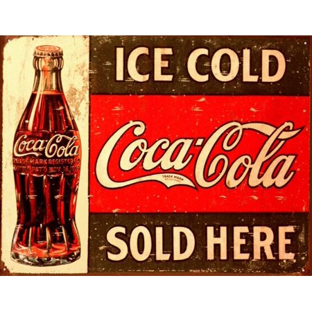 Ice Cold Coca-Cola Tin Sign - 16x12.5