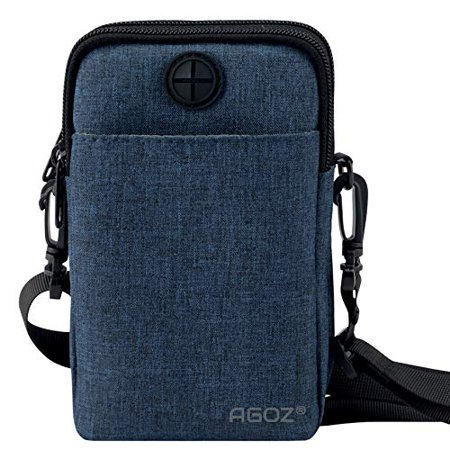 reputable site e145b 1a4e4 Agoz Crossbody Cell Phone Purse Wallet shoulder strap Pocket Bag for ZTE  ZMax One Z719DL, Axon M, Axon 7, Grand X 4, Grand X 3, Avid 916, Blade X,  ...