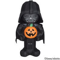 Gemmy Industries Yard Inflatables Darth Vader with Pumpkin, 3.5 ft