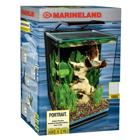 Marineland 5-Gallon Portrait Glass LED Aquarium Kit ()