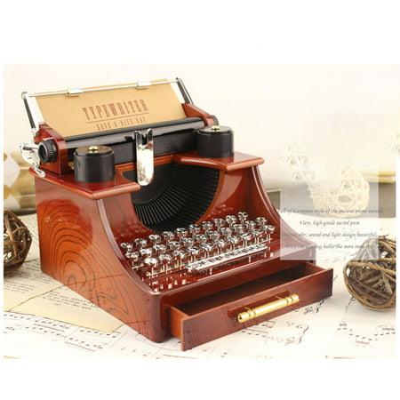 Tuscom Typewriter Box Christmas Birthday Holiday Gift Music Box Best Gift Table