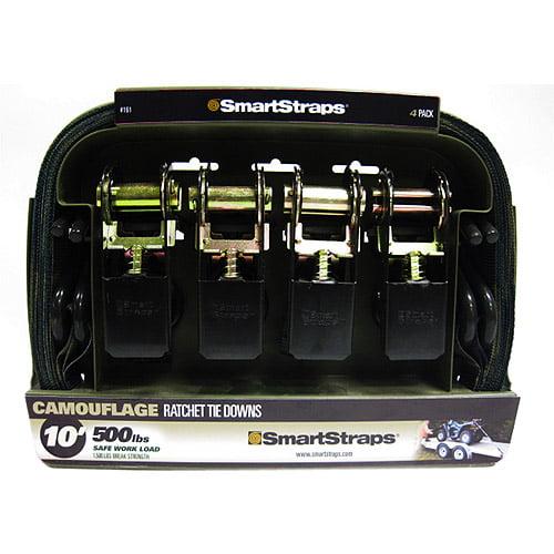 SmartStraps 10' 1500 lbs. Standard Ratchet, Camo 4 Pack