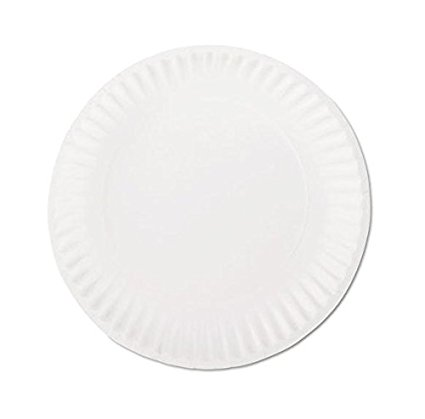 Uncoated Paper Plates 6 Inch 1000 Case White Round Lightweight Multiple Use