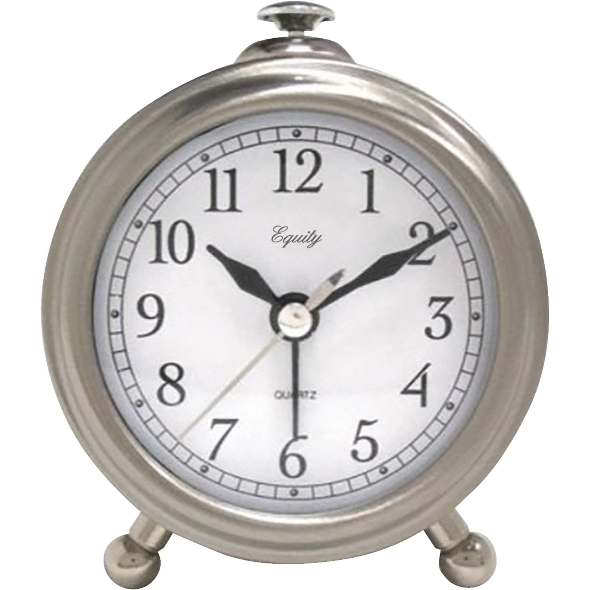 La Crosse Technology Equity Brushed Metal Battery Operated Alarm Clock by LaCrosse Technology