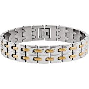 Stainless Steel Yellow IP-Plated Bracelet, 8.75
