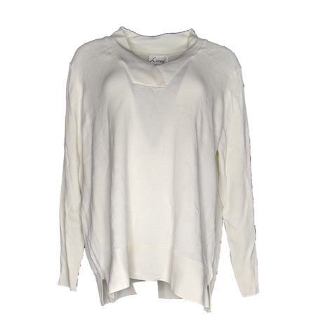 Linea by Louis Dell'Olio Women's Sz XL V-Neck Sweater Ivory A347438 Ivory V-neck Sweater