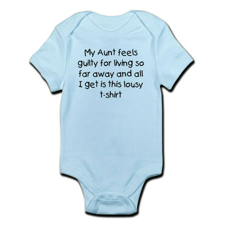 (CafePress - Aunt Far Away Infant Bodysuit - Baby Light Bodysuit)