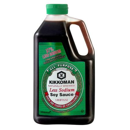 Product of Kikkoman Naturally Brewed Less Sodium Soy Sauce, 40 oz. [Biz