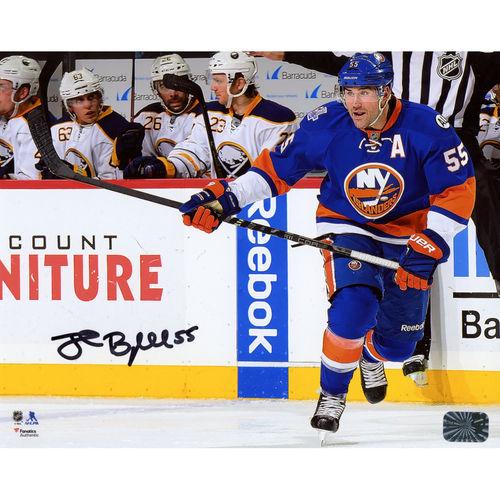 "Johnny Boychuk New York Islanders Fanatics Authentic Autographed 8"" x 10"" Blue Jersey Skating Photograph No... by Fanatics Authentic"