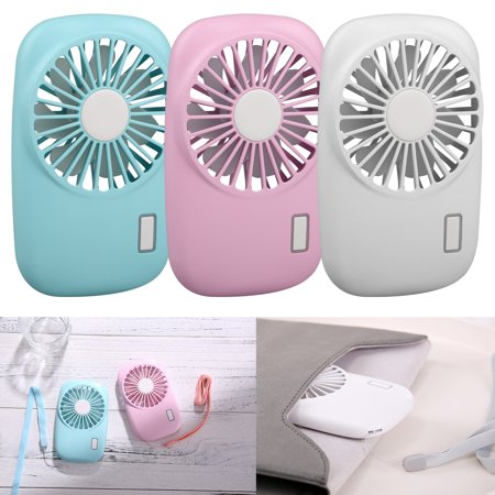 Handheld Fan Mini Fan Pocket Small Personal Portable Fan 2 Speed Adjustable USB Rechargeable Fan for Kids Girls Woman Home Office Outdoor Travel, with free lanyard](Hand Held Fans)