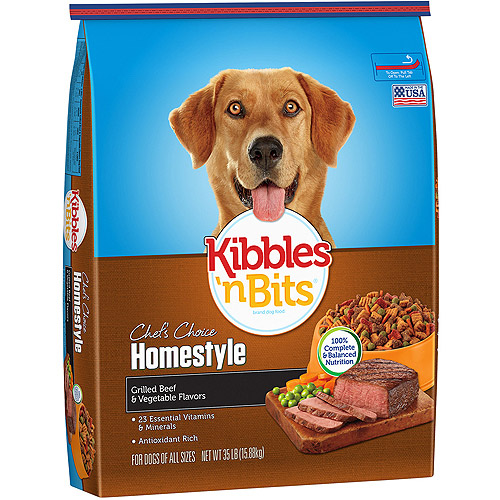 Kibbles 'n Bits Homestyle Grilled Beef & Vegetable Flavors Dry Dog Food, 35-Pound