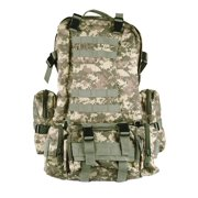 4-in-1 Outdoor Tactical Backpack for Camping Hiking Trekking - ACU