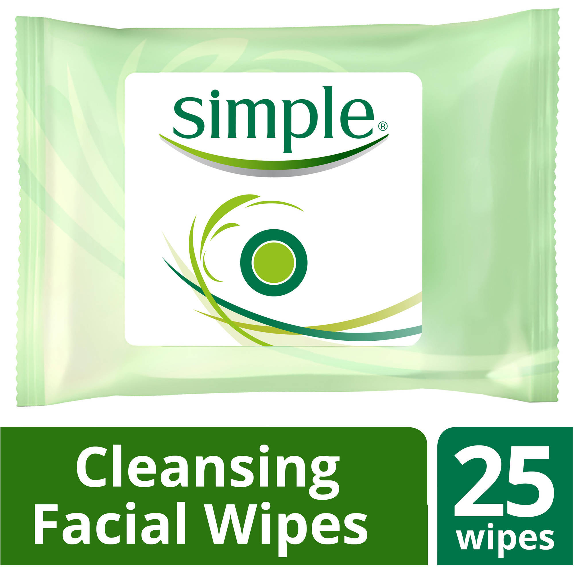 Simple Cleansing Facial Wipes, 25 ct