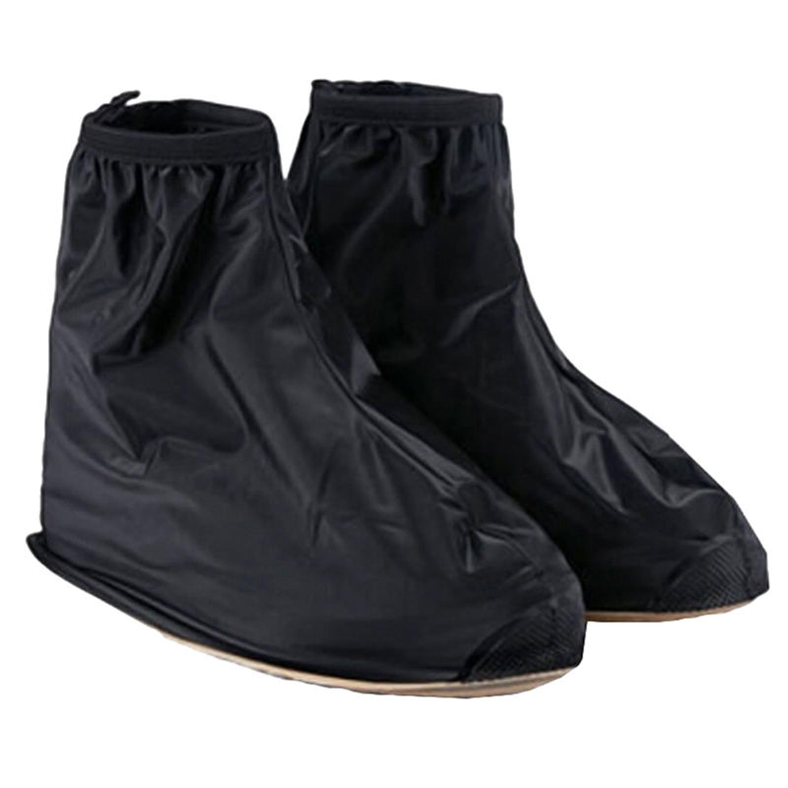 Men Reusable Shoe Covers Flat Waterproof Overshoes Rain Boot Rain Gear MZ by