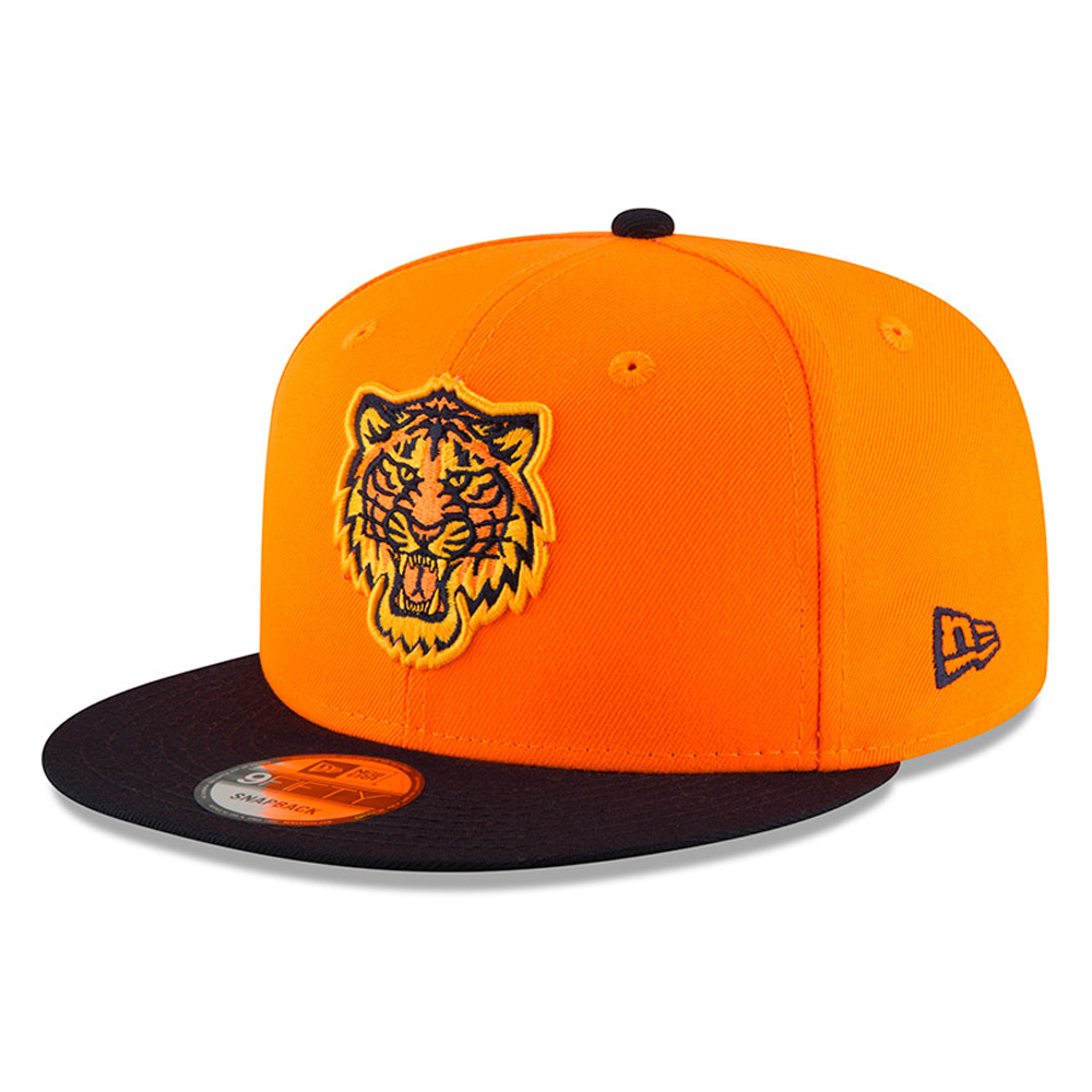 Detroit Tigers New Era 2018 Players' Weekend 9FIFTY Snapback Adjustable Hat - Orange/Navy - OSFA