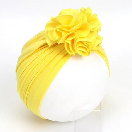 Soft Girls Boys Newborn Baby Floral Design Baby Hat Infant Turban Elastic Cap