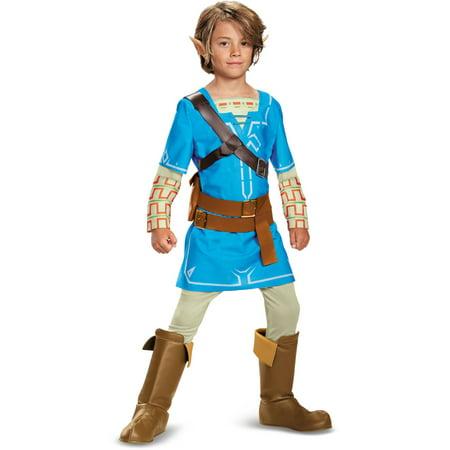 Child's Boys Deluxe The Legend Of Zelda Breath Of The Wild Link Costume