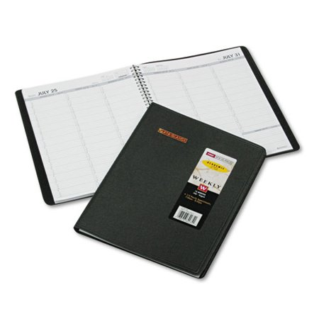 Recycled Weekly - Recycled Weekly Academic Appointment Book, Black, 8 1/4