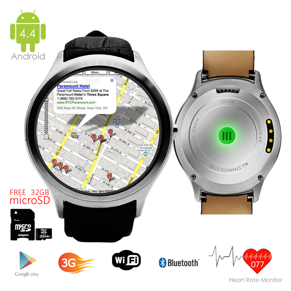 Indigi® (Factory Unlocked 3G) Smartwatch & Phone Android 4.4 w/ WiFi Access + Built-In Camera + 32gb microSD Included