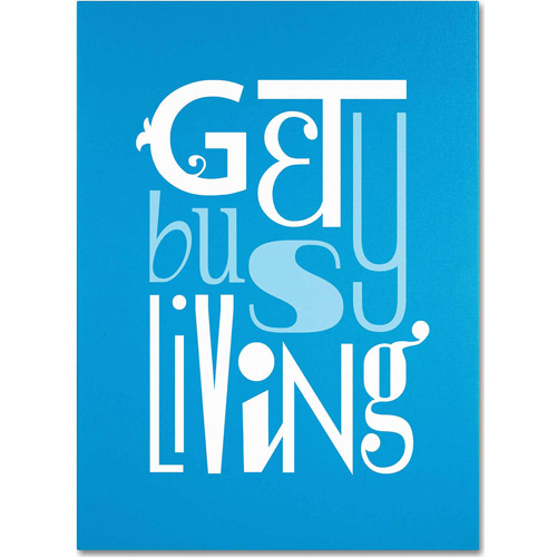 "Trademark Fine Art ""Get Busy Living II"" Canvas Art by Megan Romo"