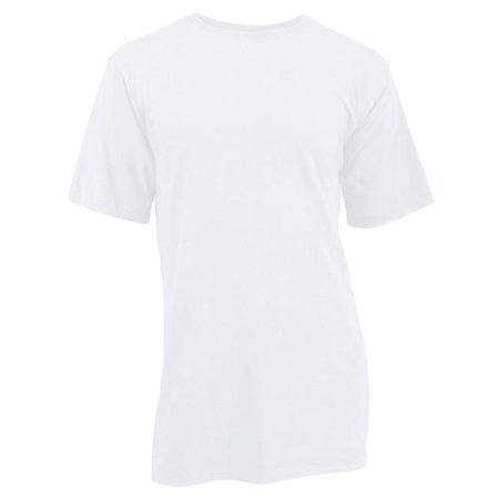 Miljames 50051002XL Mens Adult Distressed Tee Cotton, White - 2XL - image 1 of 1